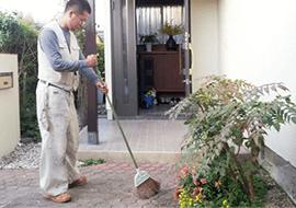 掃除と補修