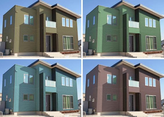 外壁塗装カラーシミュレーション事例