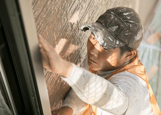 外壁塗装作業風景02