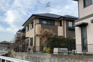 福岡県那珂川市松木のT様邸外壁塗装工事・屋根塗装工事・付帯塗装工事・ベランダFRP防水工事を行いました。