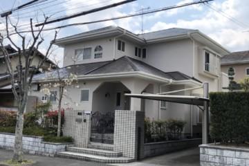 福岡県大野城市、月の浦のR様邸で外壁塗装工事・屋根塗装工事・付帯塗装工事・タスペーサー工事を行いました。