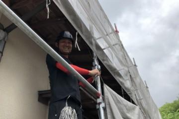 福岡県那珂川市で外壁塗装工事・付帯塗装工事を行っています。