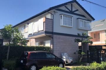 福岡県筑紫野市美しが丘で外壁塗装工事・屋根塗装工事・破風板板金工事を行いました。