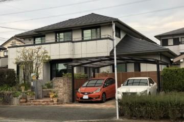 福岡県小郡市希みが丘で外壁塗装工事・バルコニー防水工事を行っています。