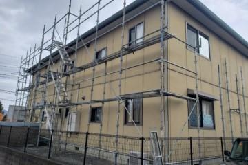 福岡県大宰府市でアパート改修工事を行っています。