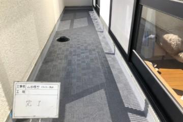 福岡県福岡市西区でベランダ防水工事を行いました。