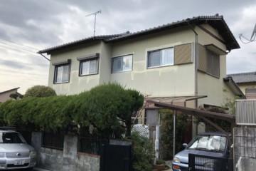 福岡県太宰府市で外壁塗装工事・軒天塗装工事を行っています。