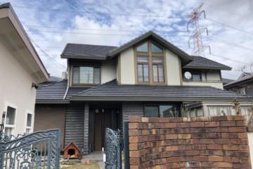 福岡県小郡市希みが丘で外壁塗装工事・小屋屋根塗装工事を行っています。