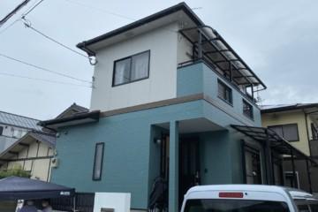 福岡県春日市弥生で外壁塗装工事・屋根塗装工事・シーリング工事を行いました。
