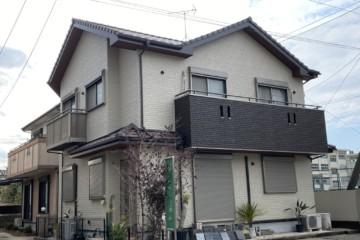福岡県福岡市南区で外壁塗装工事・屋根瓦補修工事・ベランダ防水工事を行いました。