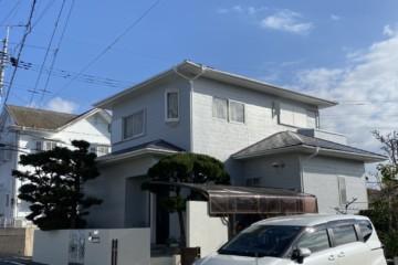 福岡県春日市紅葉ヶ丘東で外壁塗装工事・屋根塗装工事・塀補修工事を行いました。