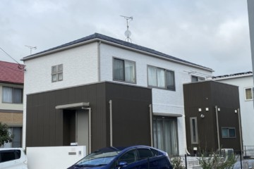 福岡県小郡市三国が丘で外壁塗装工事・屋根塗装工事を行いました。