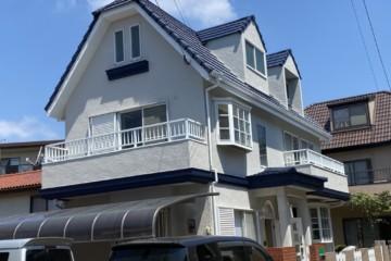 福岡県太宰府市で外壁塗装工事・屋根塗装工事・ベランダ防水工事を行いました。