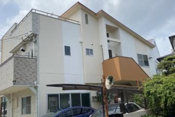福岡県福岡市博多区で外壁塗装工事・屋根塗装工事・防水工事を行いました。
