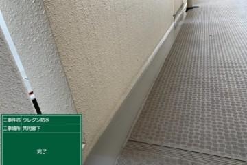 福岡県福岡市でエントランス屋根・ゴミ置き場防水工事を行いました。