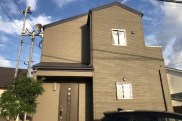 福岡県粕屋郡で外壁塗装工事・屋根塗装工事を行いました。